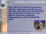 cd rom as an important step