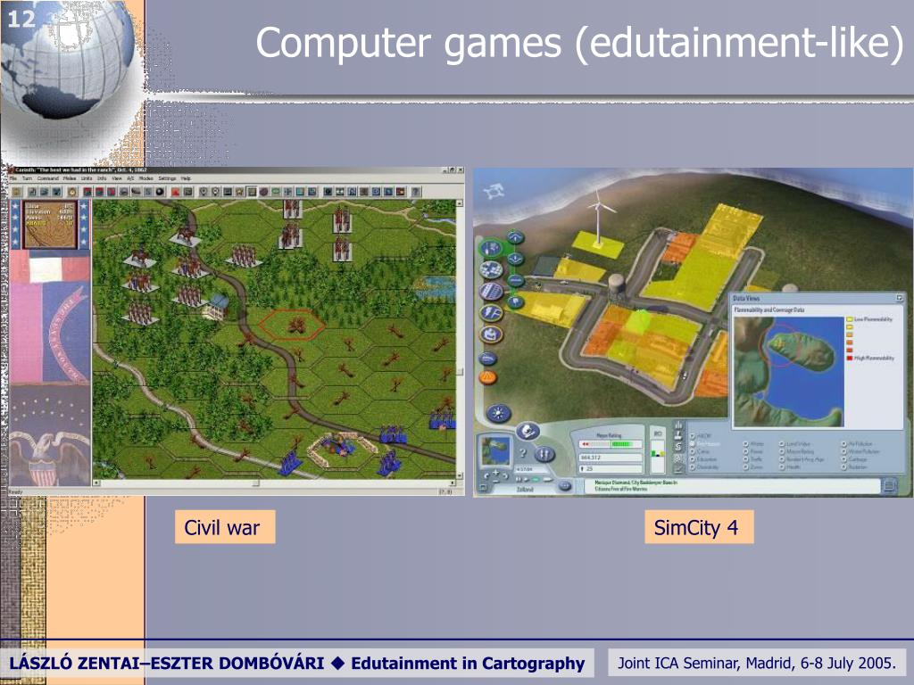 Computer games (edutainment-like)