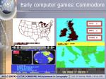 early computer games commodore