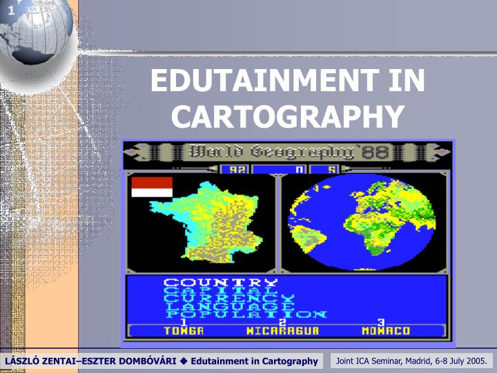 Edutainment in cartography