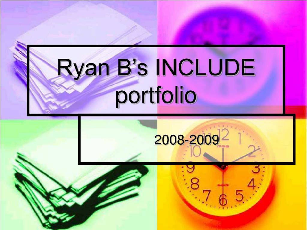 Ryan B's INCLUDE portfolio