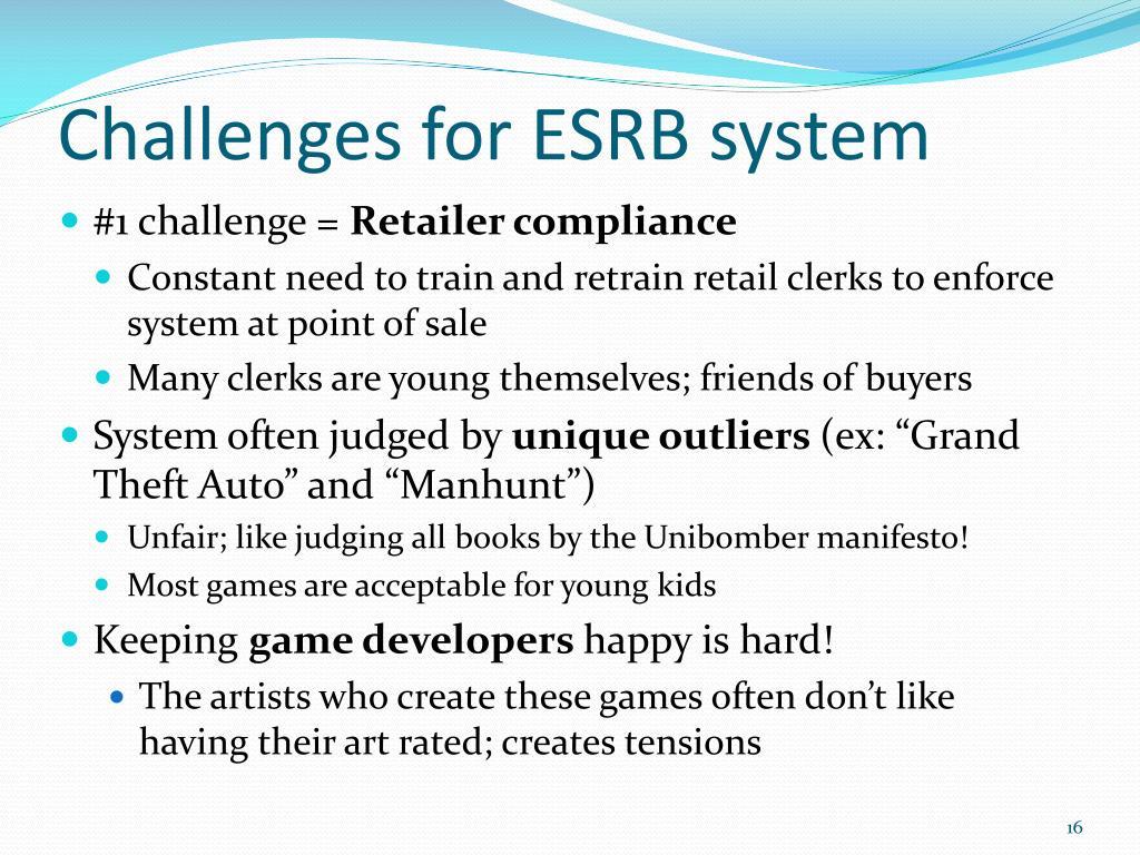 Challenges for ESRB system