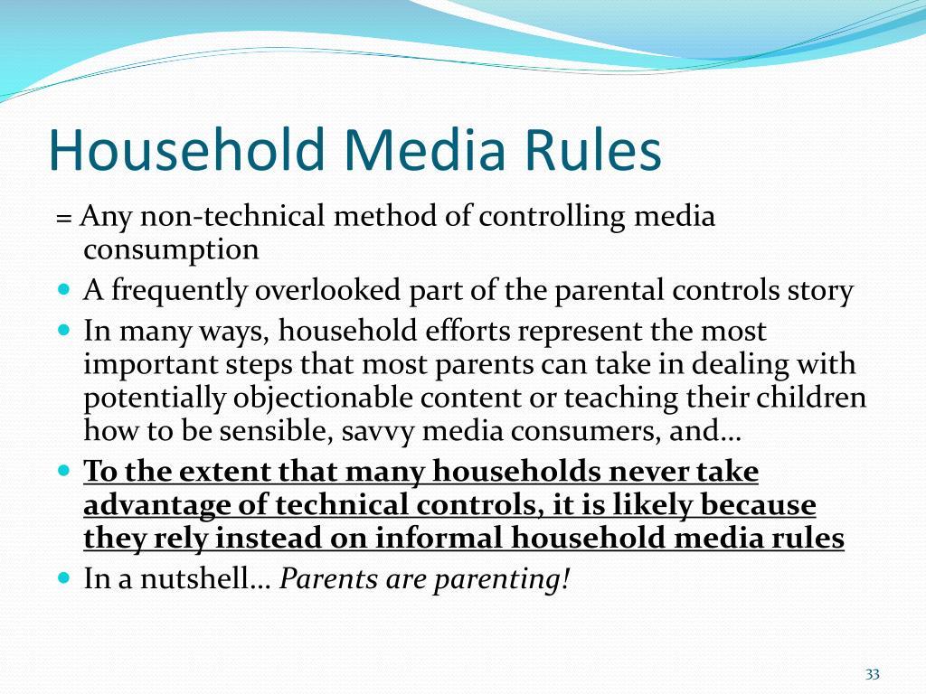 Household Media Rules