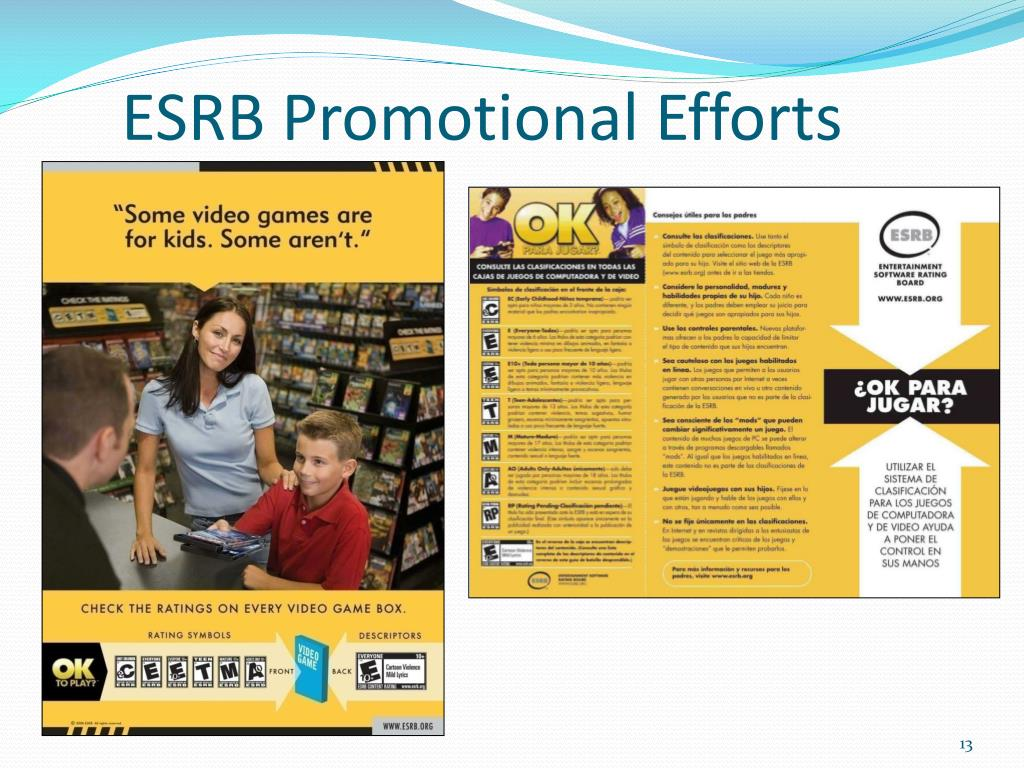 ESRB Promotional Efforts