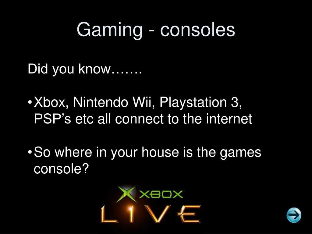 Gaming - consoles
