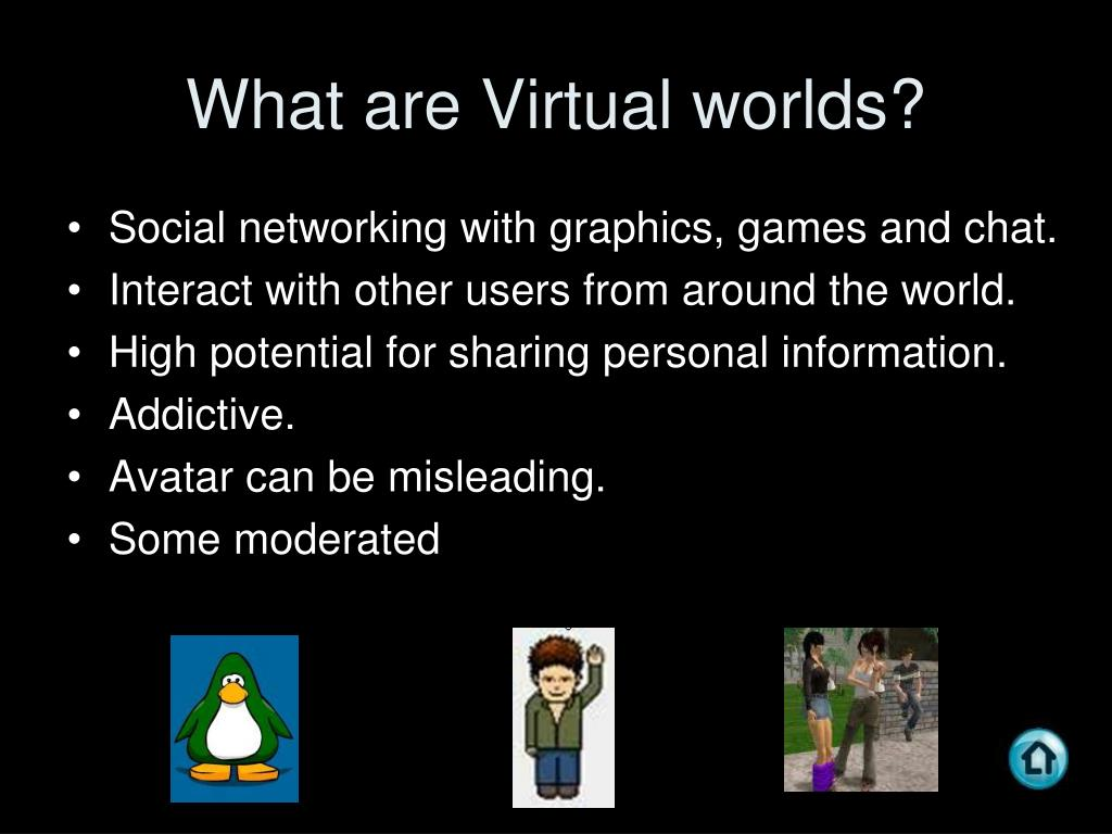 What are Virtual worlds?