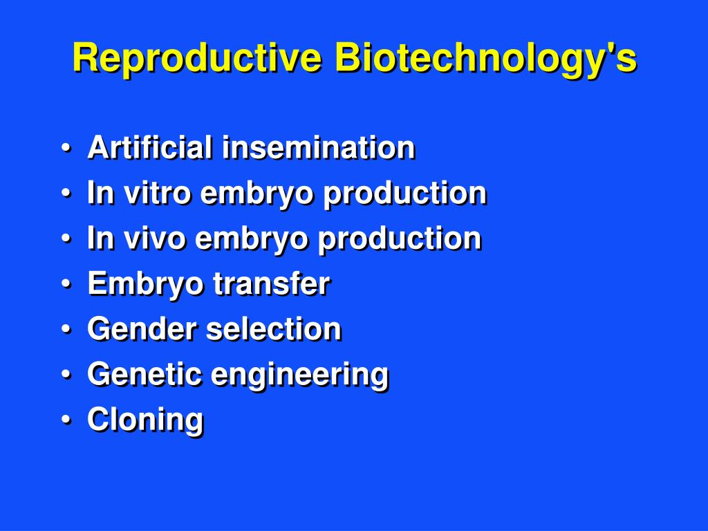Reproductive Biotechnology's