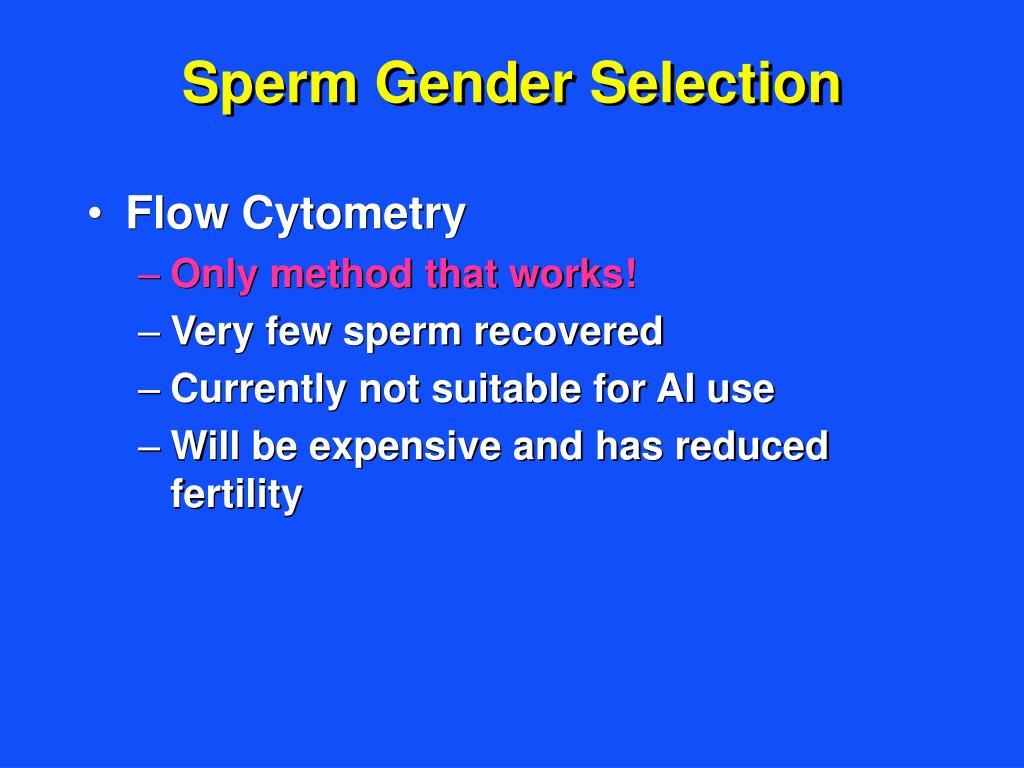 Sperm Gender Selection