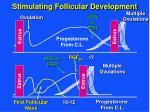 stimulating follicular development