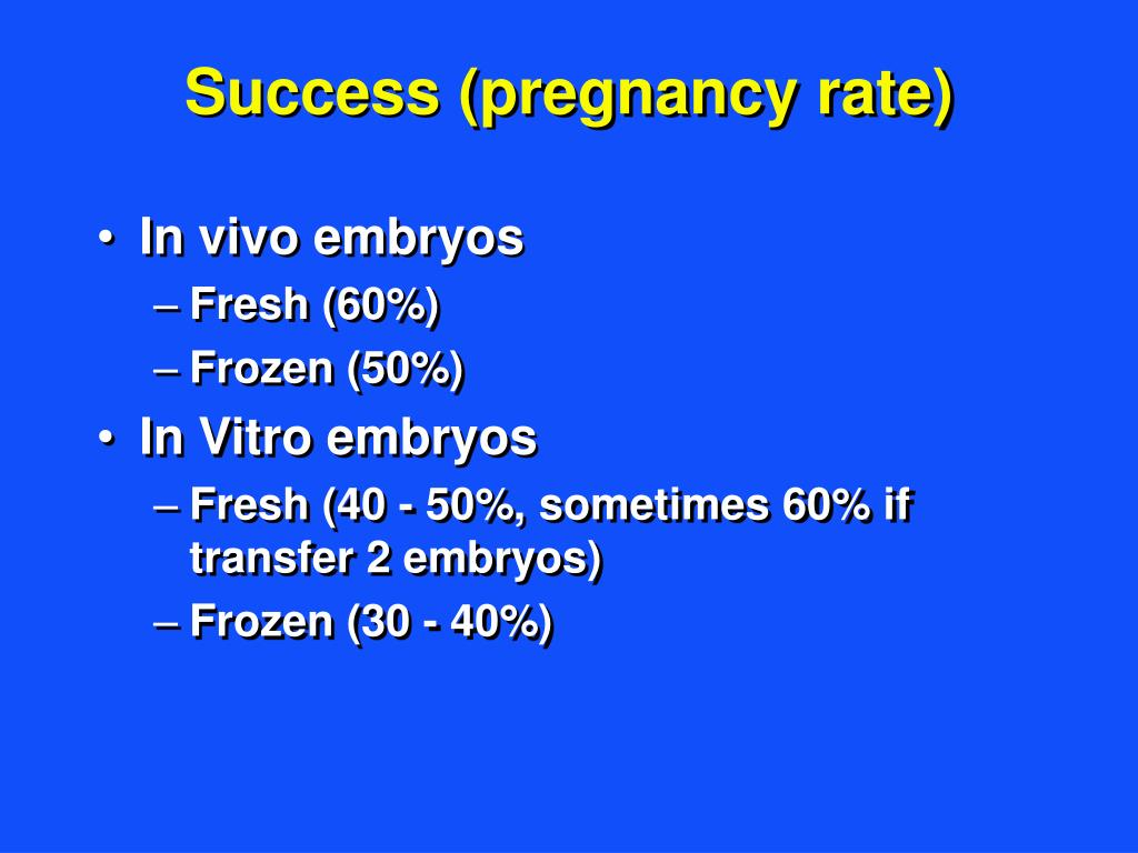 Success (pregnancy rate)