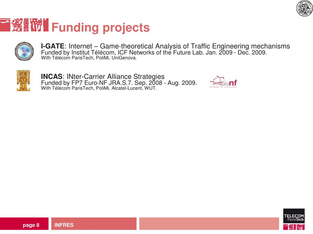 Funding projects