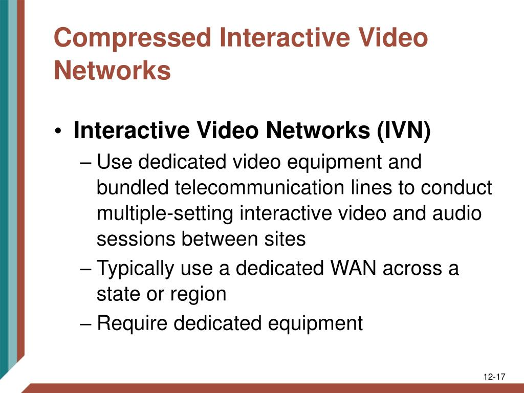 Compressed Interactive Video Networks