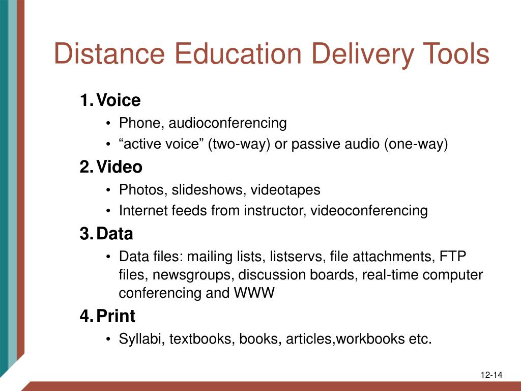 Distance Education Delivery Tools