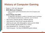 history of computer gaming