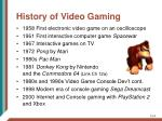 history of video gaming