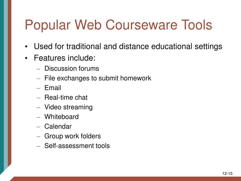 Popular Web Courseware Tools
