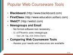 popular web courseware tools16