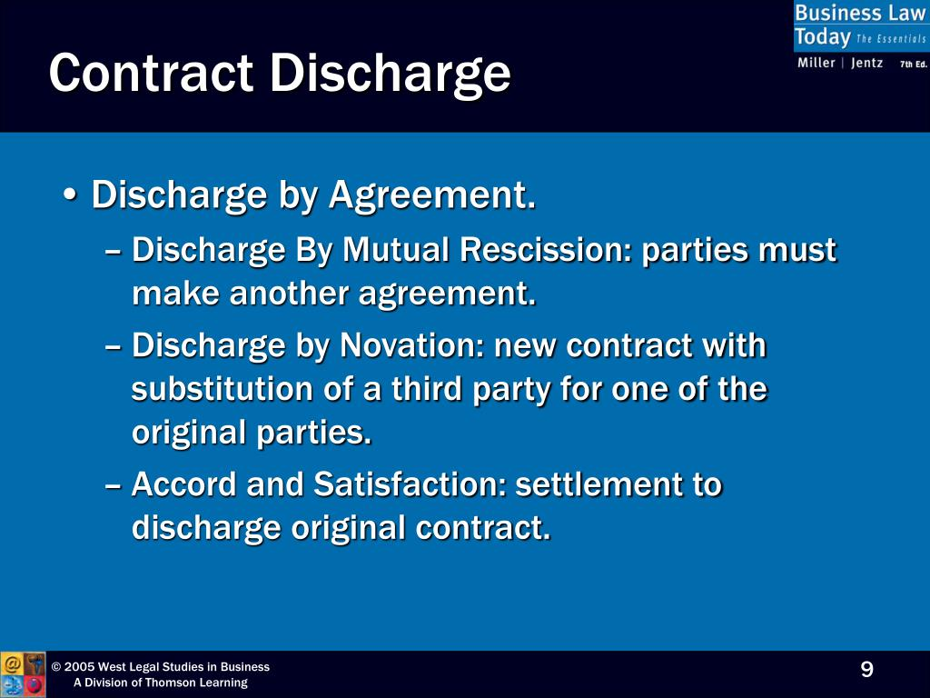 Contract Discharge