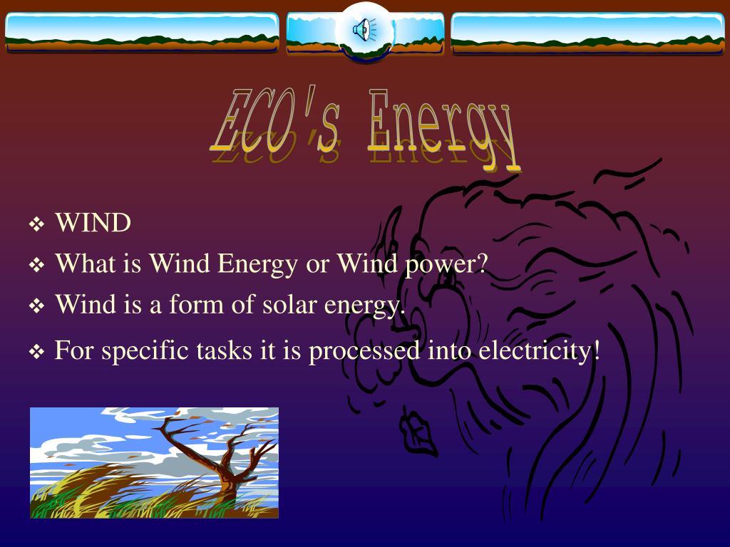 ECO's Energy