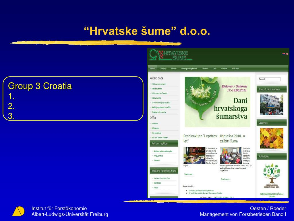 """Hrvatske šume"" d.o.o."