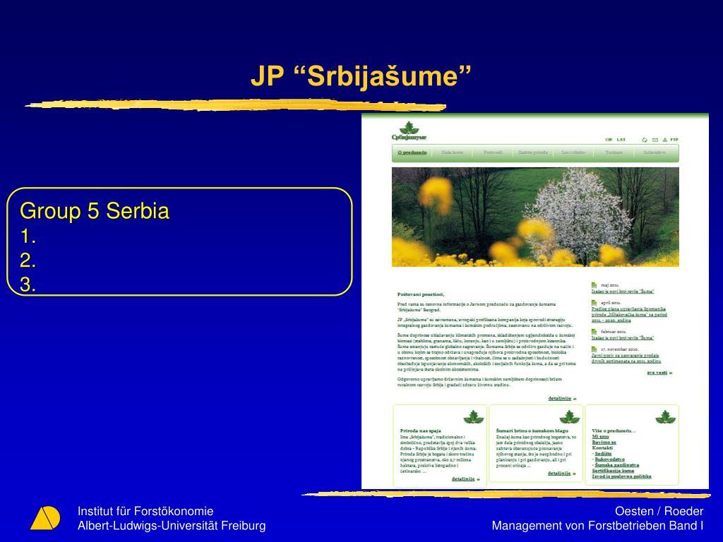 "JP ""Srbijašume"""