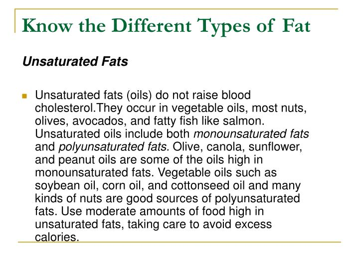 Know the different types of fat3