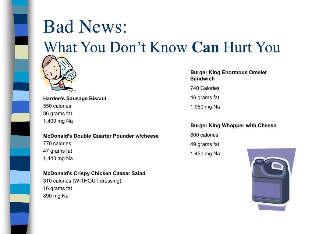 Bad News: