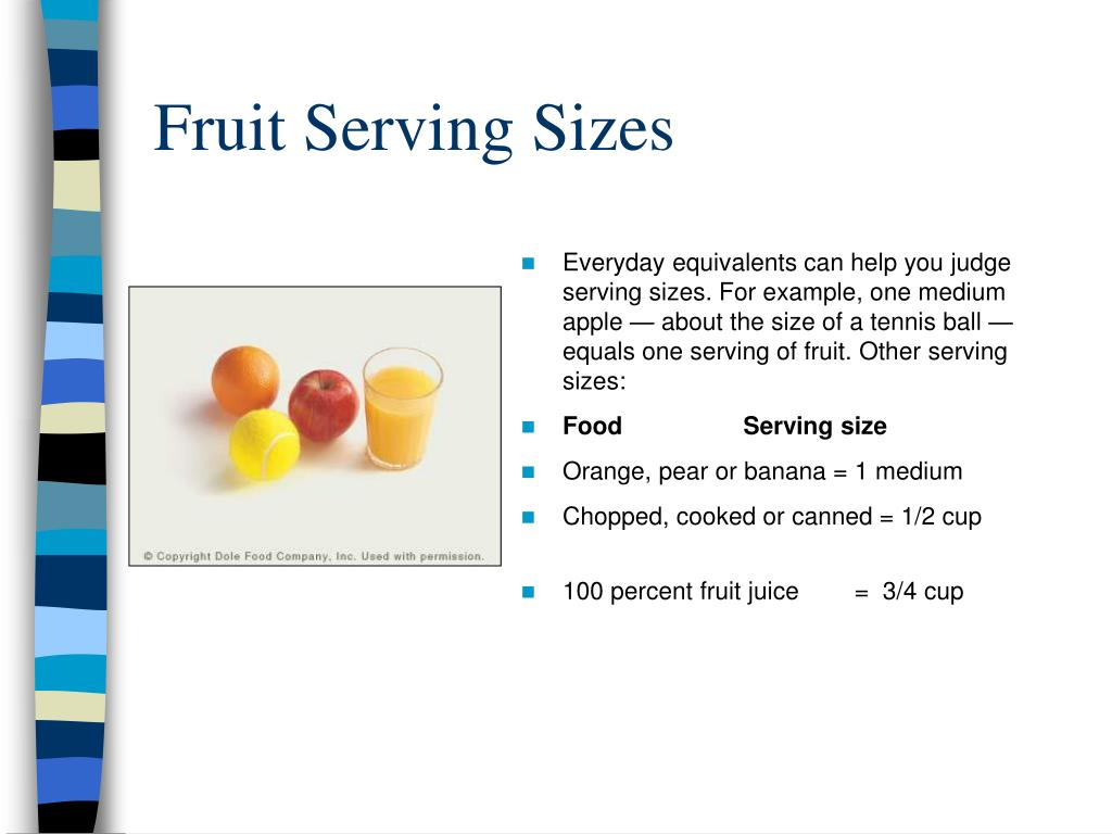 Fruit Serving Sizes