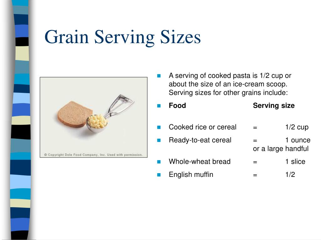 Grain Serving Sizes