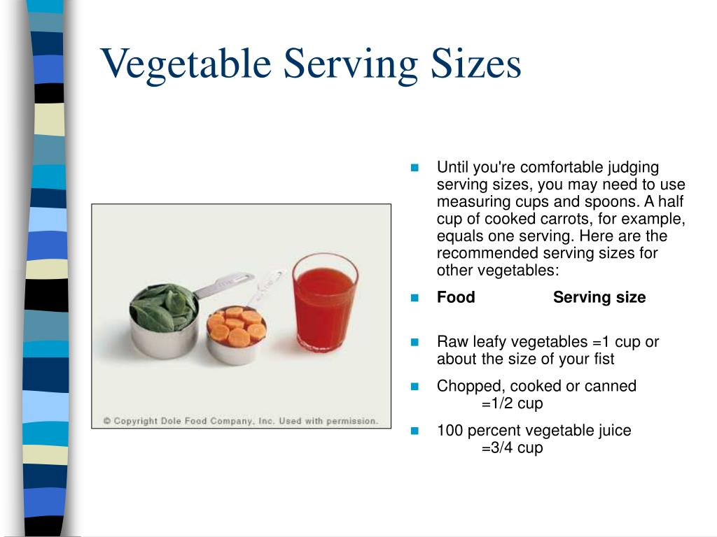 Vegetable Serving Sizes