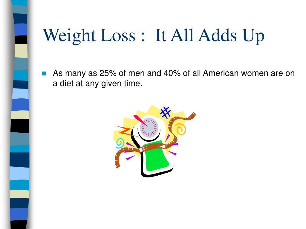 Weight Loss :  It All Adds Up