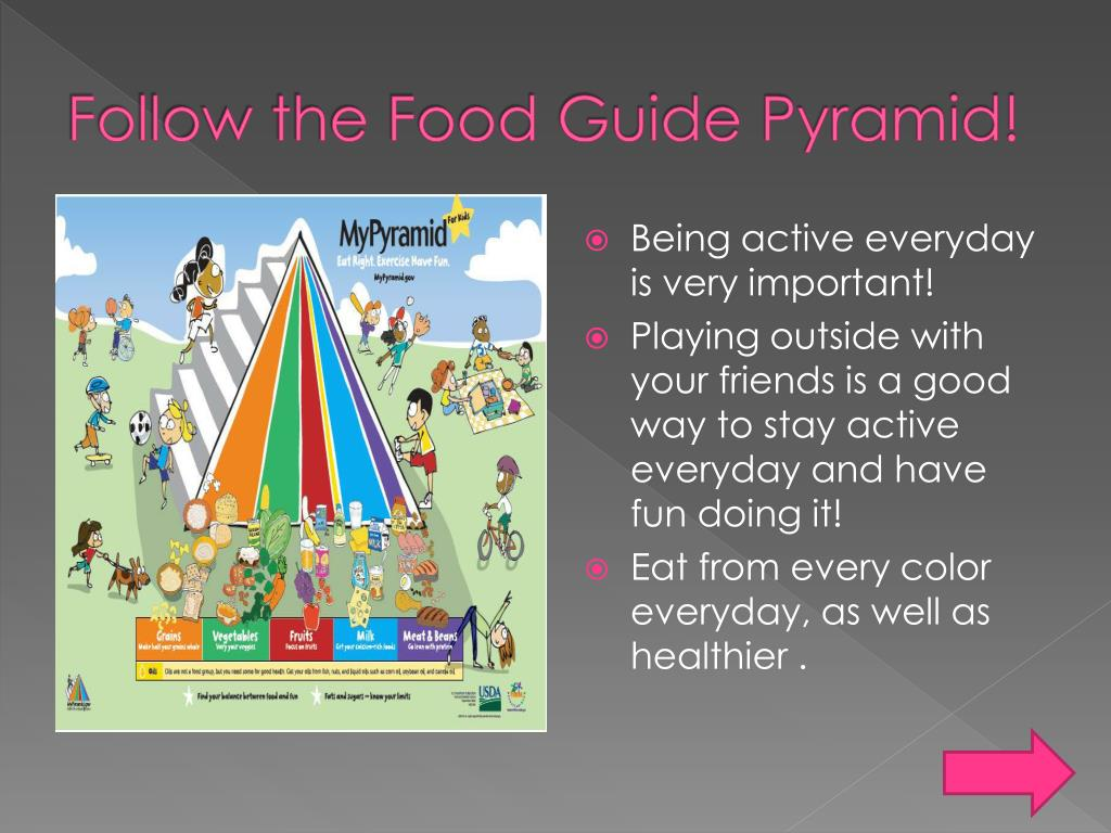 Follow the Food Guide Pyramid!