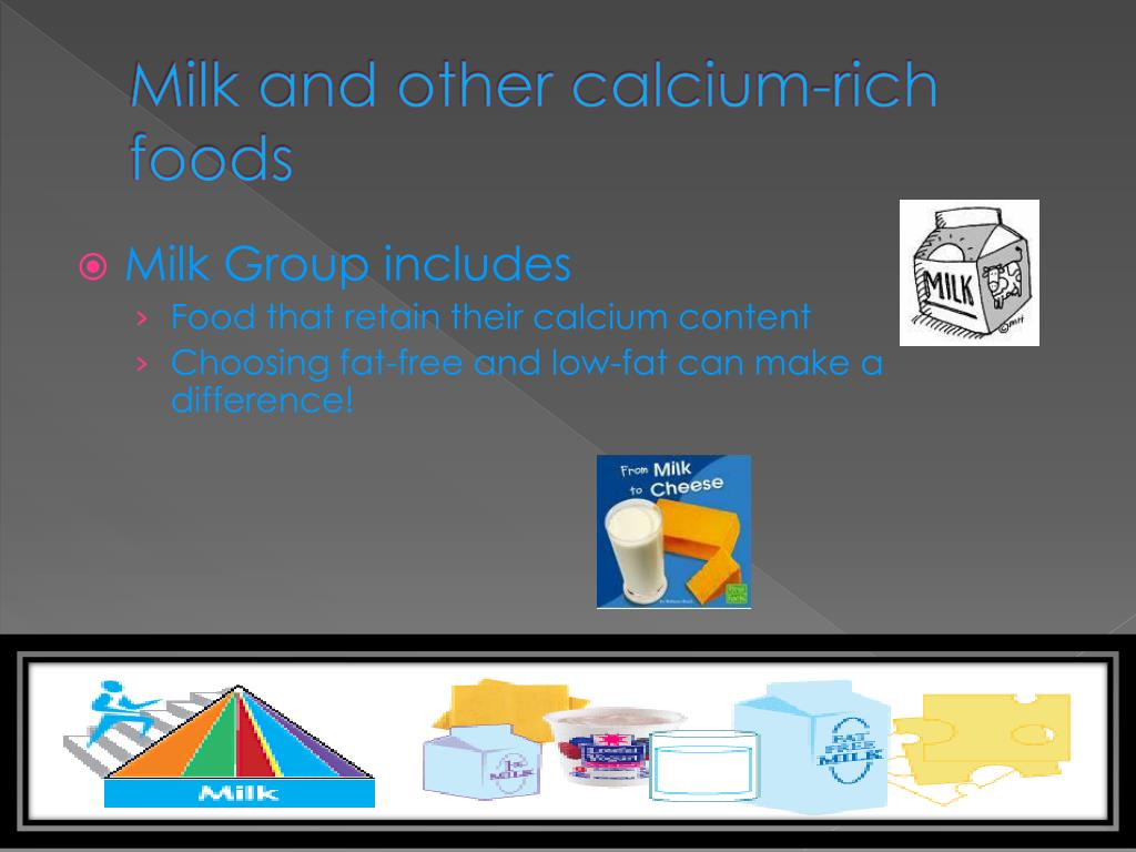 Milk and other calcium-rich foods