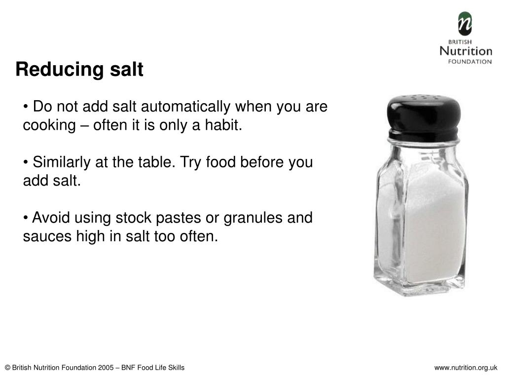 Reducing salt
