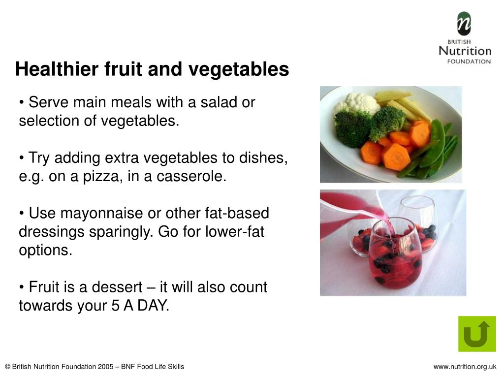 Healthier fruit and vegetables