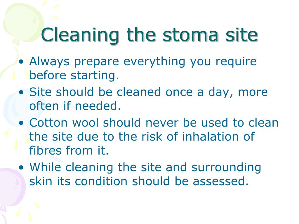 how to clean a stoma