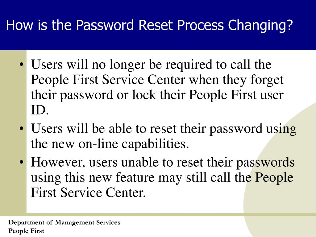 How is the Password Reset Process Changing?