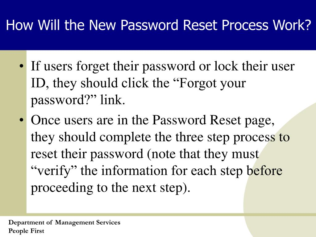 How Will the New Password Reset Process Work?