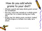 how do you add whole grains to your diet