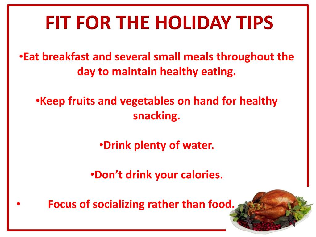 FIT FOR THE HOLIDAY TIPS