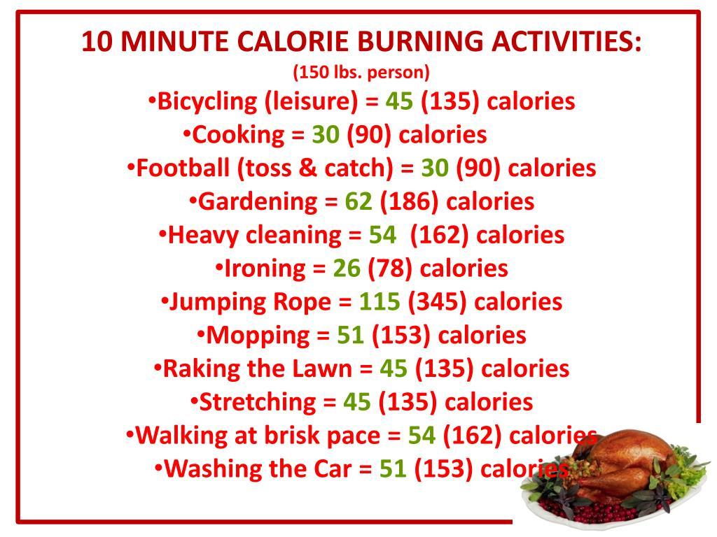 10 MINUTE CALORIE BURNING ACTIVITIES:
