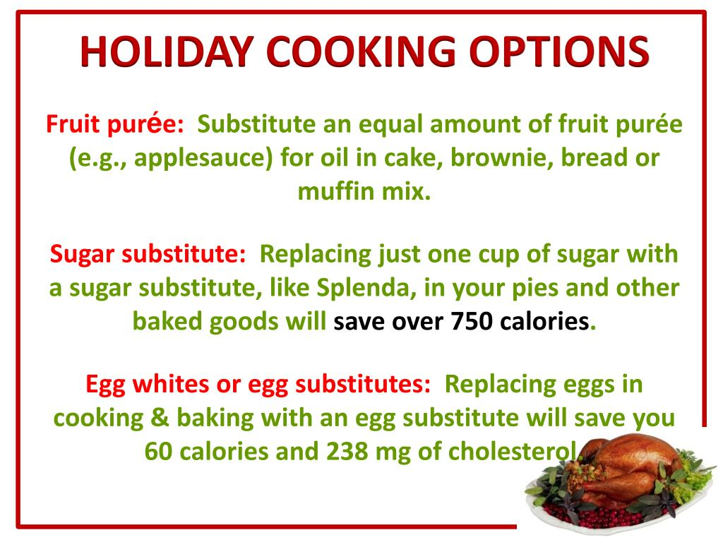 HOLIDAY COOKING OPTIONS