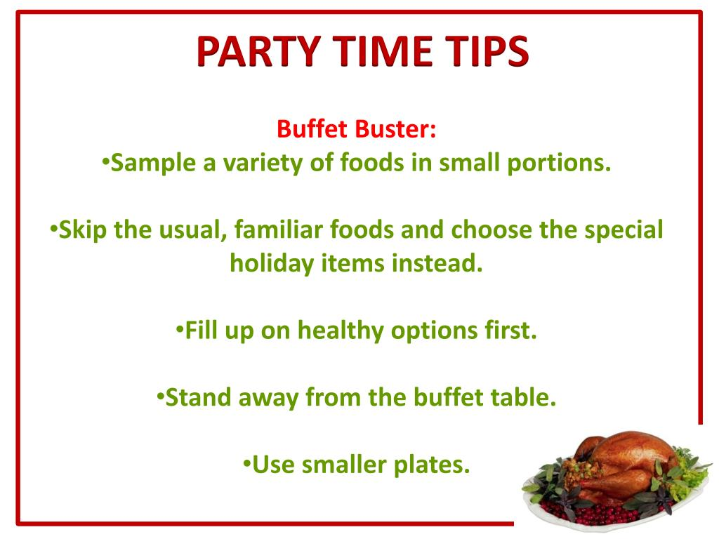 PARTY TIME TIPS