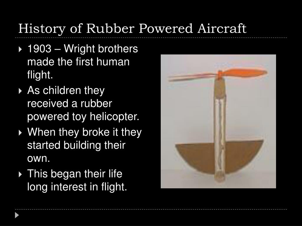 History of Rubber Powered Aircraft