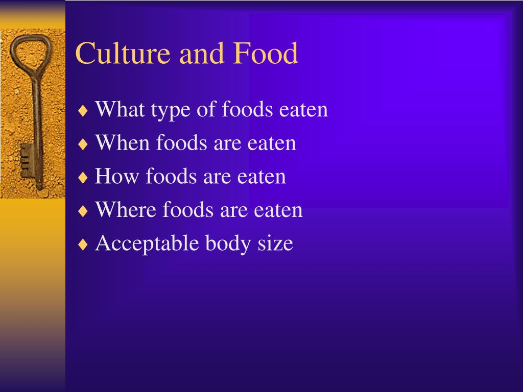 Culture and Food