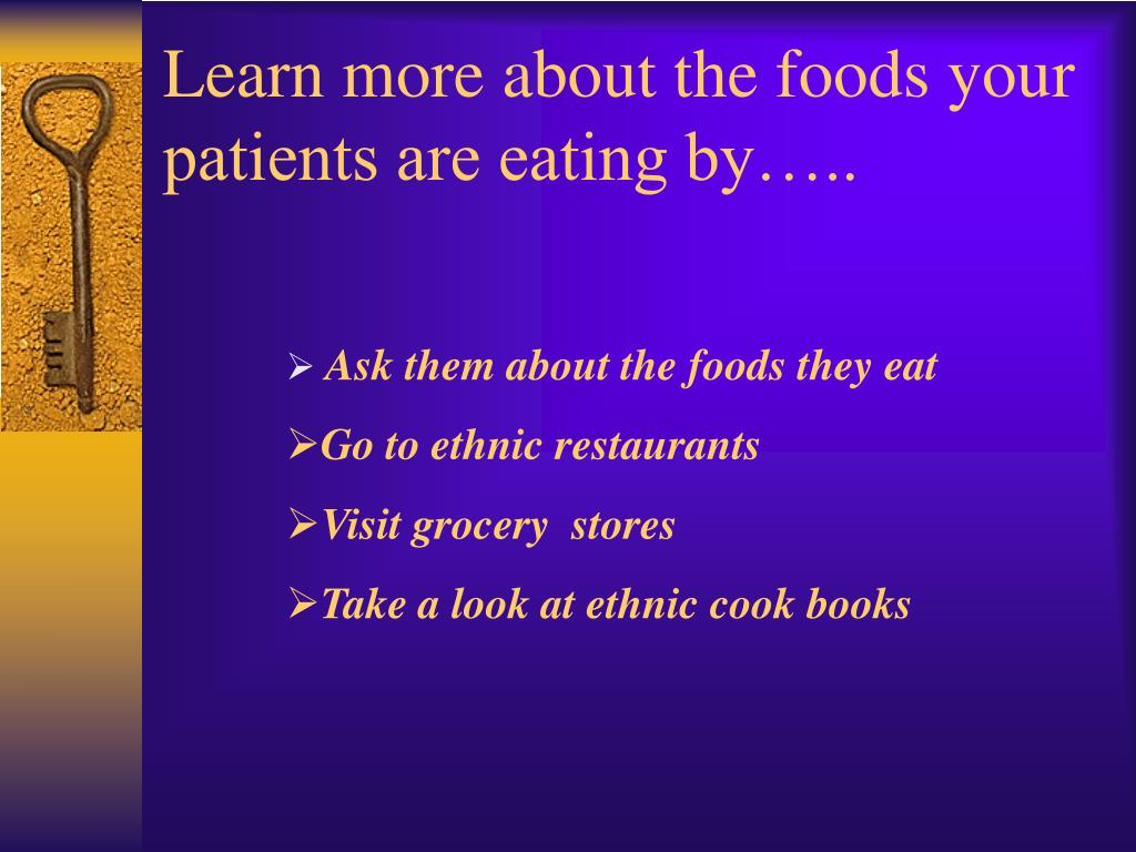 Learn more about the foods your patients are eating by…..
