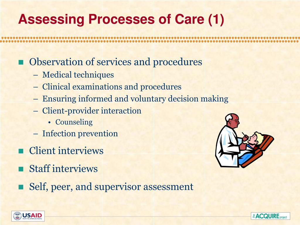 Assessing Processes of Care (1)