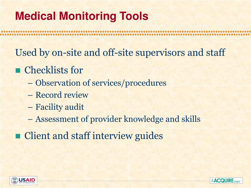 Medical Monitoring Tools
