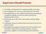 supervisors should promote
