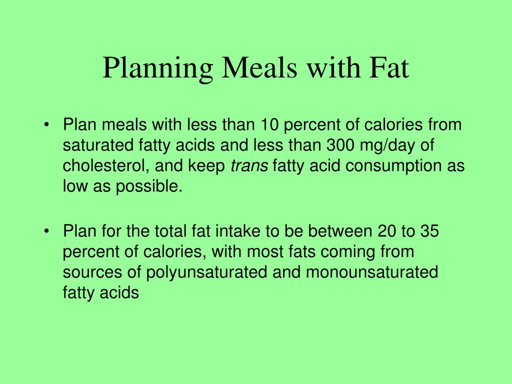 Planning Meals with Fat